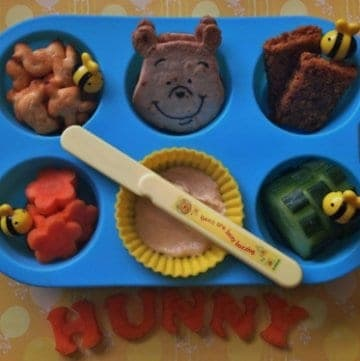Winnie the Pooh Muffin Tin Meal