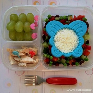 Butterfly Themed Rice Salad