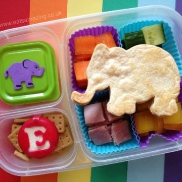 Book Themed Food - Elmer the Elephant Book Themed Bento Lunch for World Book Day from Eats Amazing UK - Making healthy food fun for kids
