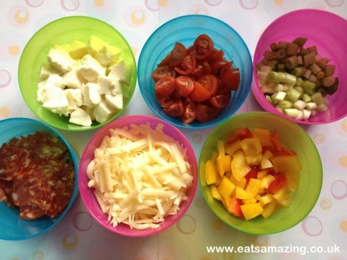 Eats Amazing - DIY Pizza Party Pizza Toppings