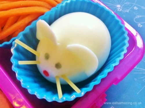How to make a boiled egg mouse from Eats Amazing UK - healthy and fun food for kids - great for bento lunches