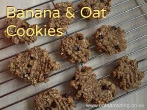 Easy Recipes for Kids – Banana Oat Cookies
