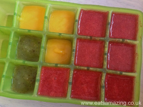 Freeze Leftover Fruit Ice Lolly Mix in cubes to throw in smoothies