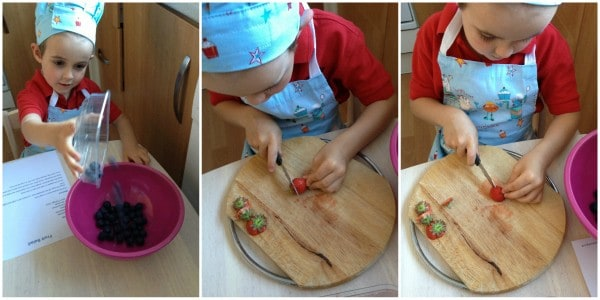 Cooking with Small Child - Simple Fruit Salad Step 1