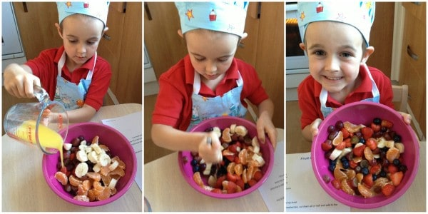 Cooking with Small Child - Simple Fruit Salad Step 4