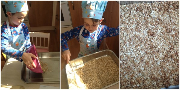 Cooking with Small Child - Simple Granola, Step 2