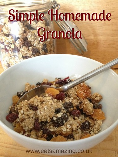 Eats Amazing - Simple Granola a child can make - with downloadable recipe sheet