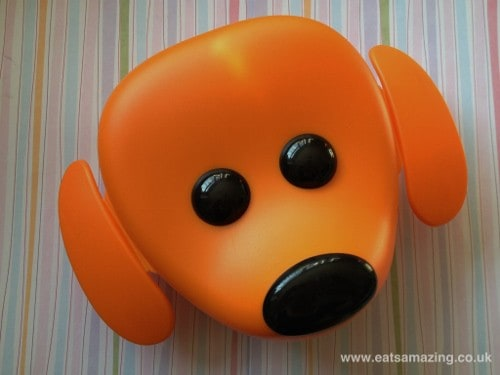 IKEA cute dog lunch box - ear flaps open