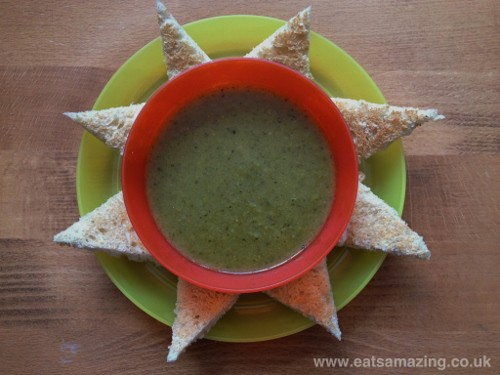 Eats Amazing - Homemade soup and toast sunshine