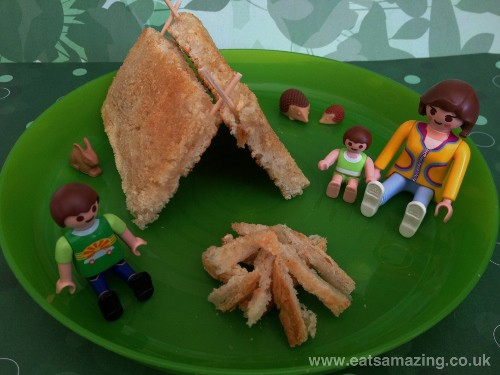 Eats Amazing - Making Toast Fun - Camping with playmobil