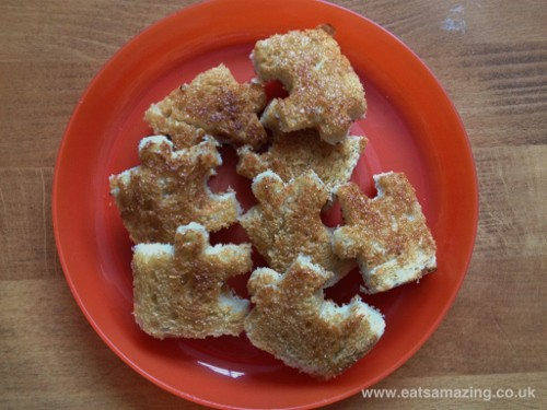 Eats Amazing - Making Toast Fun - an edible jigsaw