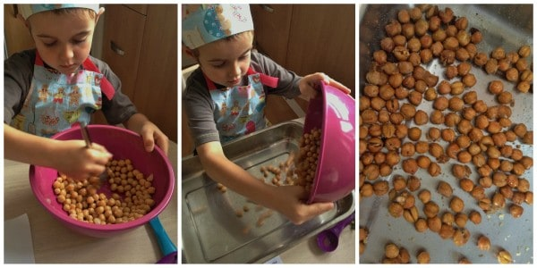 Cooking with Small Child - Easy Roasted Chickpeas Step 2