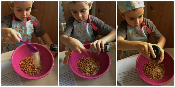 Cooking with Small Child - Easy Roasted Chickpeas Step 3