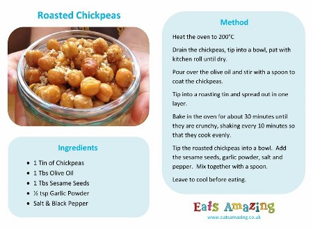 Easy Recipes for Kids , Roasted Chickpeas