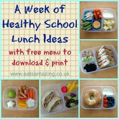 Menu – A Week of Balanced Lunches #1