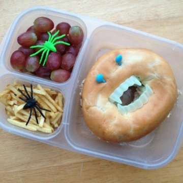 Scary Bagel Lunches