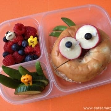 Quick Funny Face Bagel Lunch