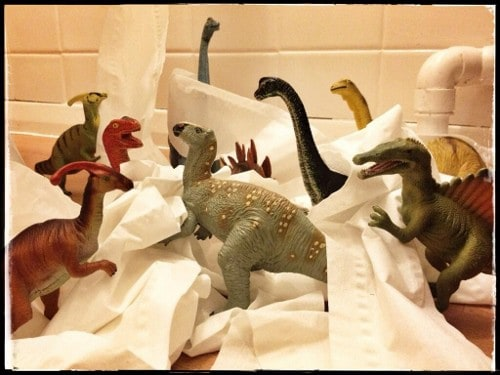 Eats Amazing -#dinovember day 8 - The dinosaurs destroyed our downstairs toilet!