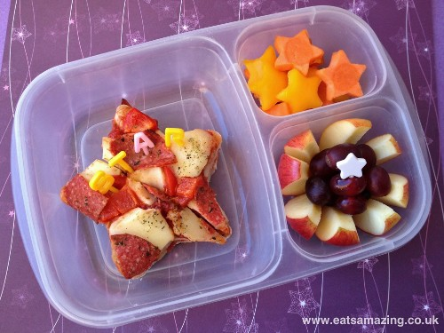 Eats Amazing - Star themed lunch with leftover pizza slices cut into stars
