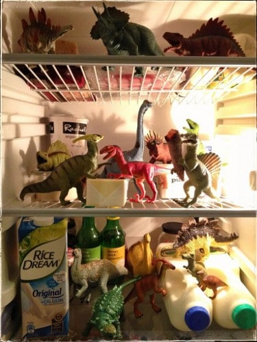 Eats Amazing -#dinovember day 14 - the dinosaurs have a party in the fridge to celebrate the end of Dinovember