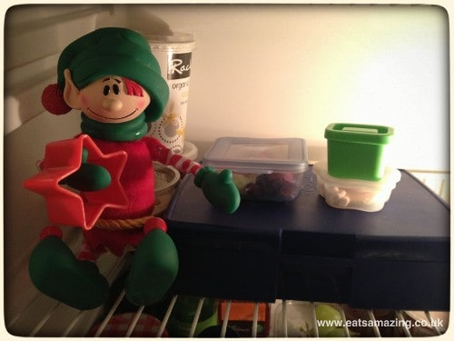 s packed lunch, and another miniature version for himself #elfontheshelf #christopherpopinkins