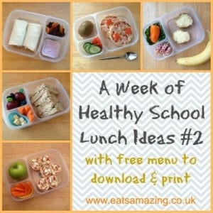 Menu – A Week of Balanced Lunches #2