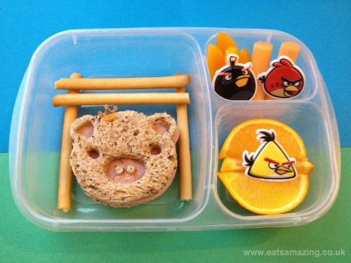 Eats Amazing - Angry Birds themed lunch with cuteZcute and Easylunchboxes
