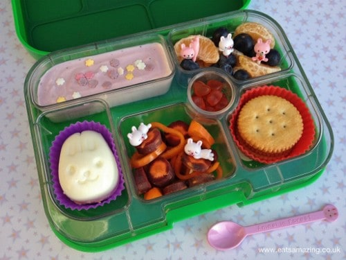 simple bunny lunch in the yumbox eats amazing. Black Bedroom Furniture Sets. Home Design Ideas