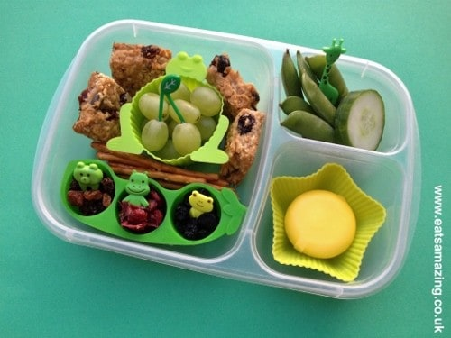 Eats Amazing - Green themed colour coded lunch