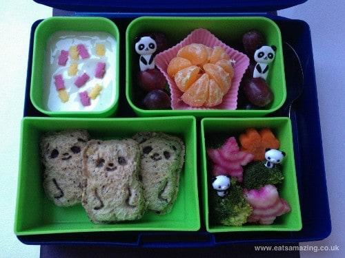 Eats Amazing - Panda Pocket Sandwiches Lunch with cuteZcute Animal Palz