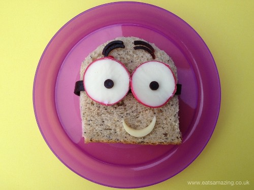 Eats Amazing - Simple Minion Sandwich with Babybel Eyes (500x375)