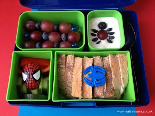 Eats Amazing - Spiderman themed lunch in Laptop Lunches Bento Box