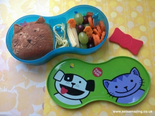 Eats Amazing - TUMTUM lunch set review with cat and dog lunch