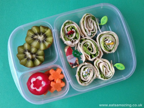 Eats Amazing - Tortilla wrap swirls in garden themed lunch