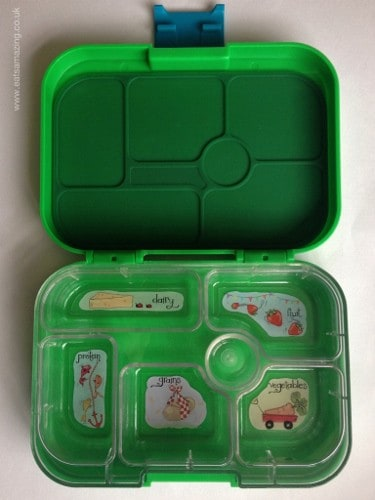 Eats Amazing - Yumbox review - inside the yumbox