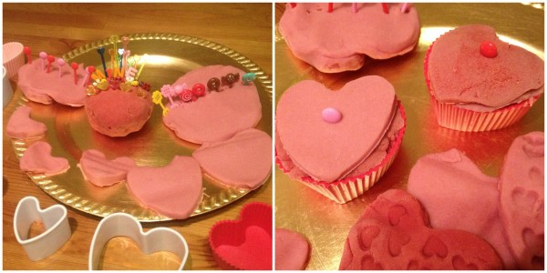 Valentines Invitation to Play with pink and red play dough