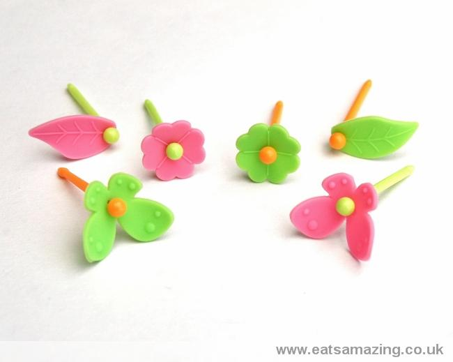 3D Silicone Flower and Butterfly Picks