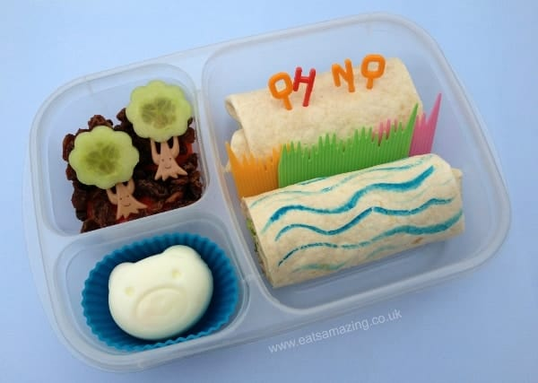 Book Themed Food - Going on a Bear Hunt Book Themed Bento Lunch for World Book Day from Eats Amazing UK - Making healthy food fun for kids