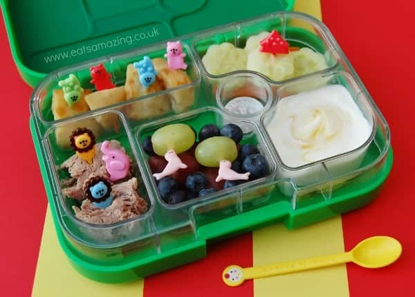 Eats Amazing - Circus themed leftovers lunch in Yumbox