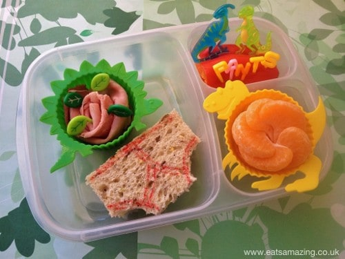 Eats Amazing - Dinosaurs Love Underpants book themed lunch for World Book Day