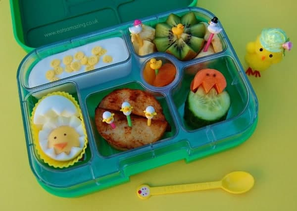 Eats Amazing - Egg themed lunch for Easter in the Yumbox
