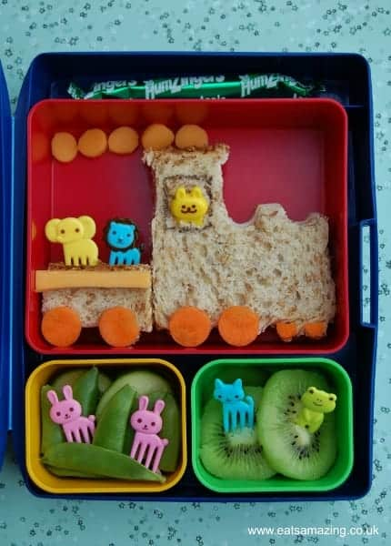 Eats Amazing - Lunchpunch train sandwich lunch in a Laptop Lunches Bento Box
