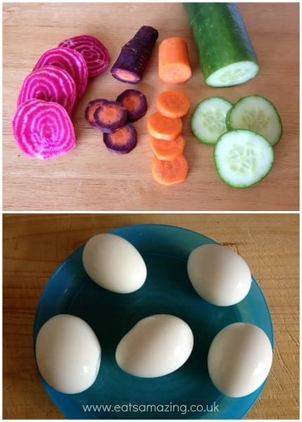 Eats Amazing - Making a rabbity egg salad - supplies