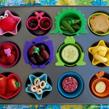Rainbow Muffin Tin Meals for St Patricks Day