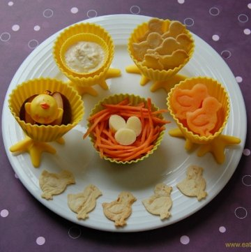 Chick Themed Muffin Tin Meals
