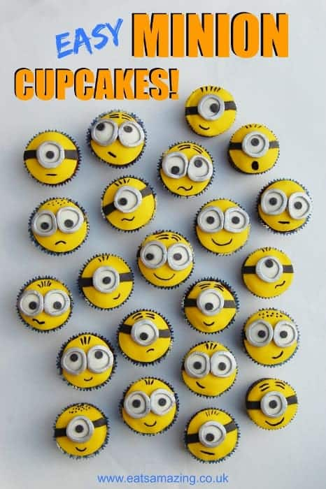 Awesome Despicable Me Minion Cupcakes Funfoodfriday Funny Birthday Cards Online Aeocydamsfinfo