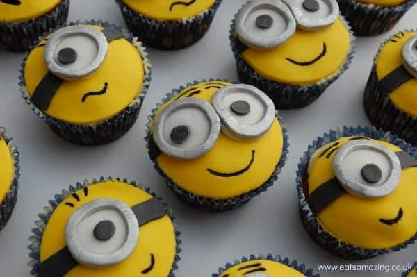 Eats Amazing - Easy Minion Cupcakes