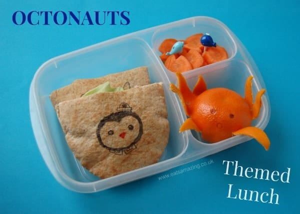 Eats Amazing - Octonauts themed lunch with a mandarin orange octopus