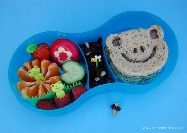 Eats Amazing - Frog themed bento lunch in the TUMTUM lunch box
