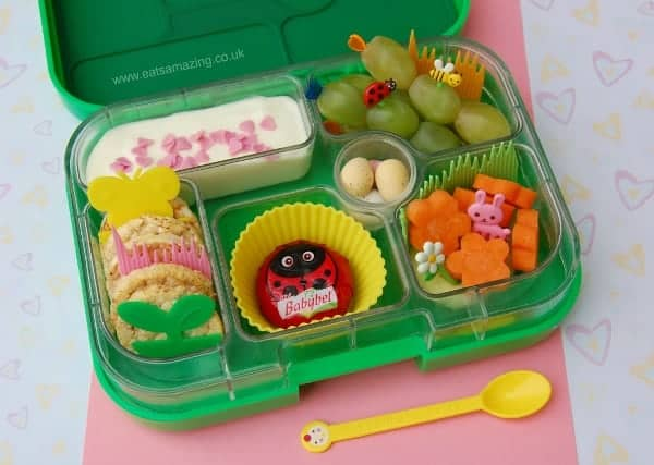 Eats Amazing - Garden themed lunch in the Yumbox